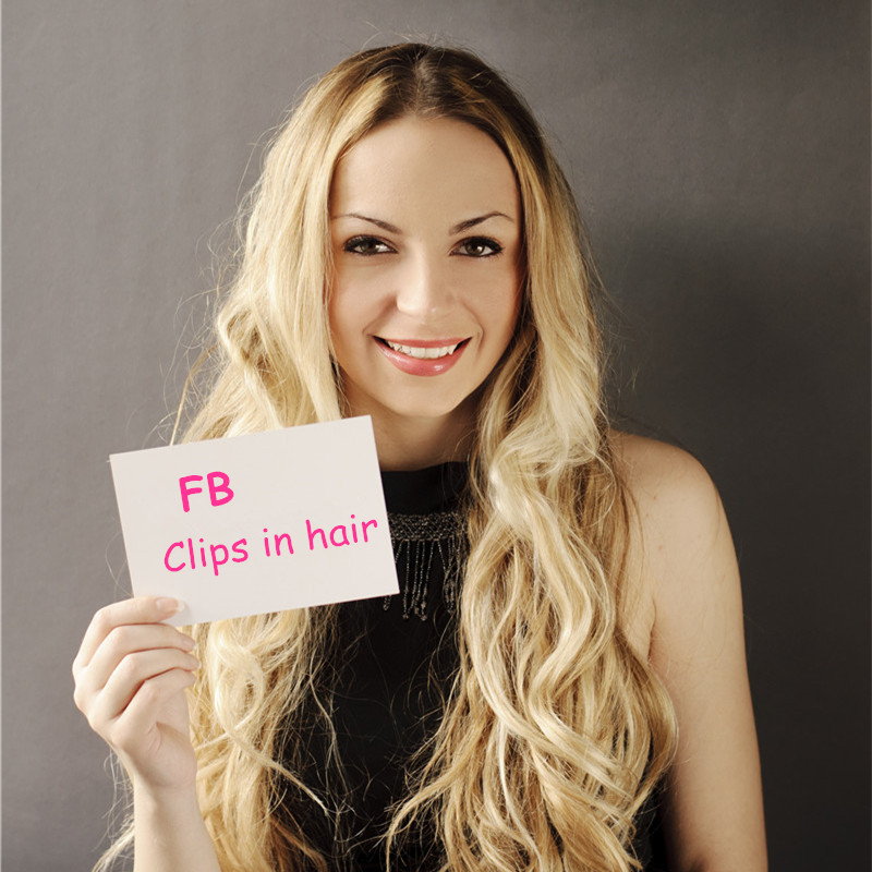FB clips in hair #613 160g set