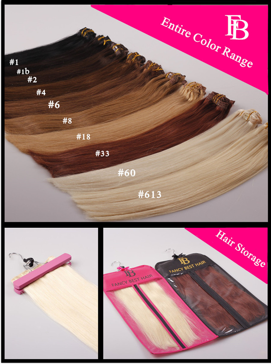 Remy Clip in Hair Extensions,