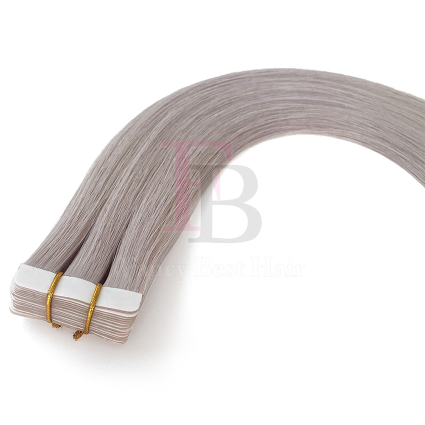 Ice blonde  tape in hair extension